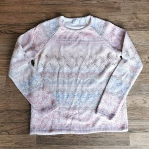 Anthropologie Postmark Garden Patterned Sweater S